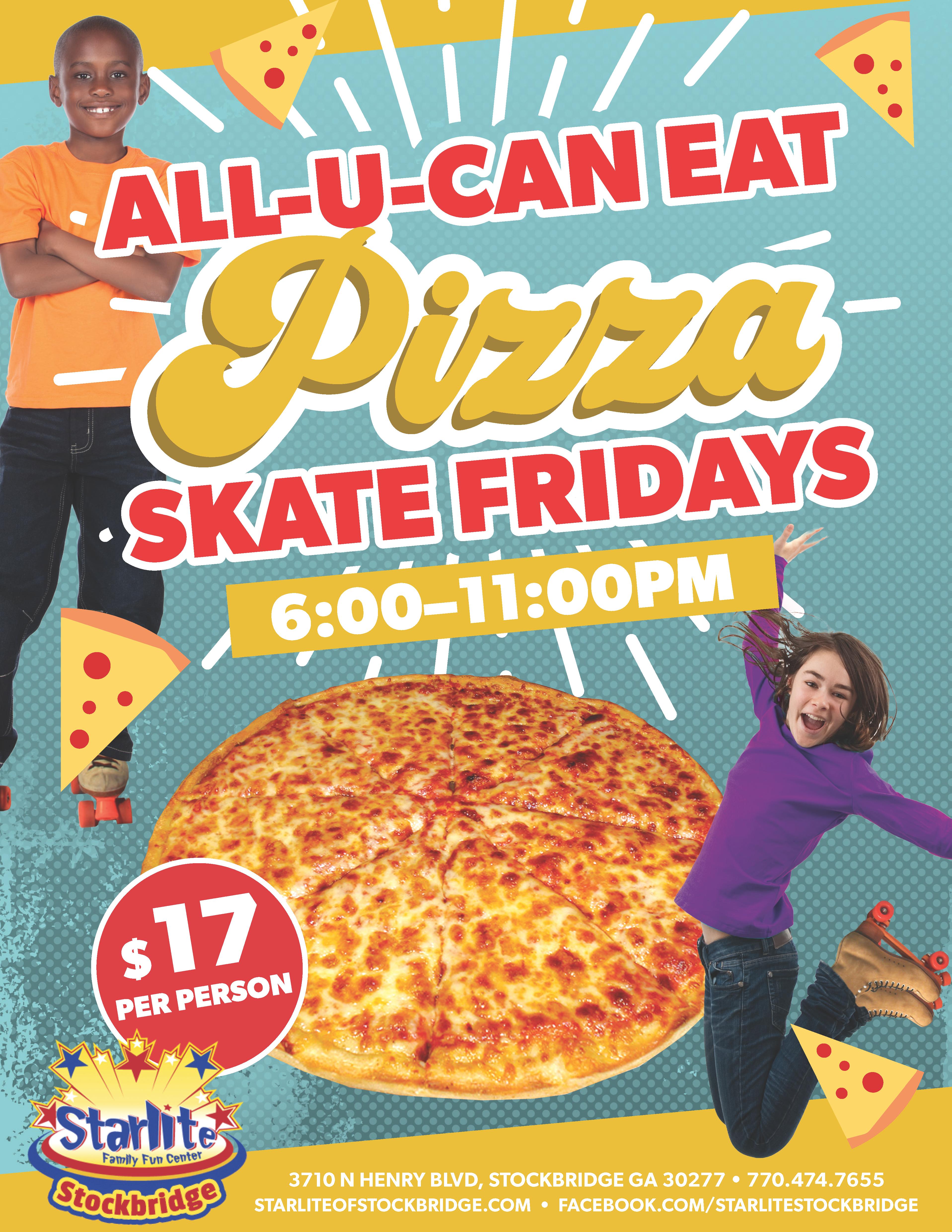 GA21-010 All You Can Eat Pizza Flyer-Stockbridge new